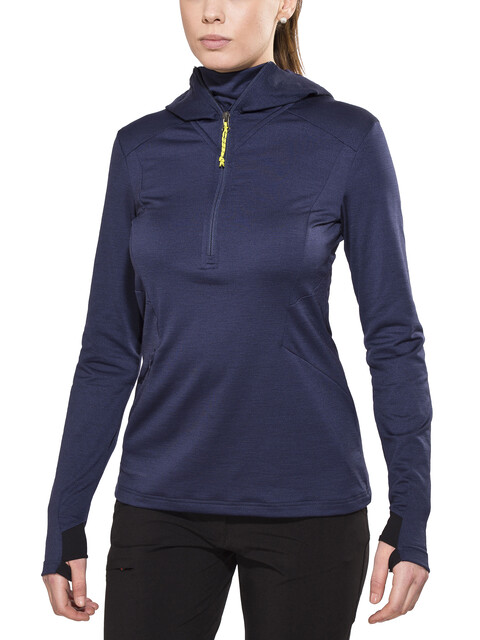 Peak Performance Civil Mid Hood Sweatshirt Women Blue Mountain